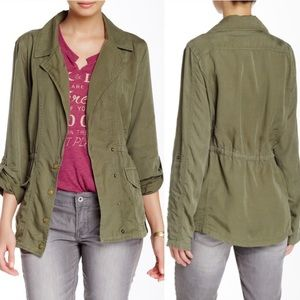 Lucky Brand Military Utility Jacket Olive green